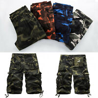 New Mens Military Army Fatigue Camo Cargo Shorts Camouflage Sports Pants