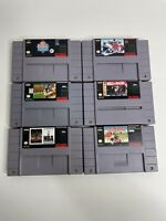 SNES Lot 6 Games  - Super Nintendo - Jungle Strike -  Monopoly - Free Shipping