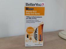BetterYou BOOST VITAMIN B12 Daily Oral Spray 1200uq methylcobalamin APRICOT 25ml