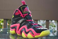 ADIDAS CRAZY 8 G98384 BLACK/PINK/GREEN SIZE 6.5 BASKETBALL SNEAKERS