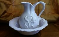 Vintage Royal Haeger Water Wash Basin & Pitcher #4156 USA