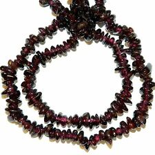 NG1954c Glossy Dark Red Garnet Small 6mm Polished Chip Gemstone Beads 34""