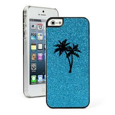 For Apple iPhone 4 4S 5 5S 5c GLITTER Bling Hard Case Cover Palm Trees
