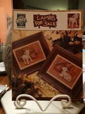 """Counted Cross Stitch Pattern """"Lambs for Sale"""" True Colors  New"""
