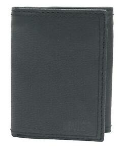 New Levis Men's Leather Interior Zipper Slim Trifold Wallet