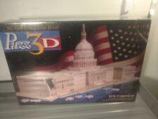 Vintage Puzz3D US Capitol Building 3D Puzzle Sealed 1994 718pc Milton Bradley