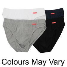 3 X Slazenger Briefs Mens 100% COTTON Size  XL White Black Grey R251-20