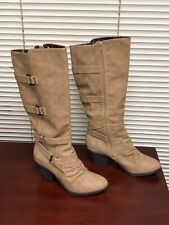 Blowfish Women's Faux Leather Stay Tall Boot Sand US 12