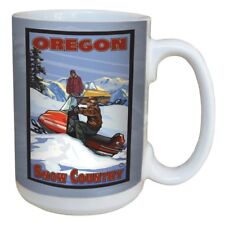 TreeFree Greetings - 79410 Oregon Snow Mobile by Lanquist Ceramic Mug 15 oz.