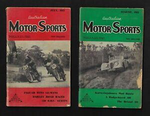 AUSTRALIAN MOTOR SPORTS MAGAZINE 6 ISSUES JULY 1951-DECEMBER 1951