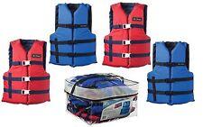 Adult Life Jacket 4-Pack  Universal Preserver USCG Type III Fishing Boating Vest