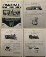 Original Prospekt Hanomag Nachrichten Jahrgang 12 1925 Eisenbahn Technik sf