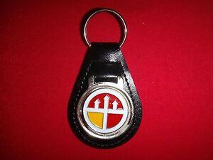US Army ENGINEER COMMAND VIETNAM (Provisional) Black Leather Key Ring Unused