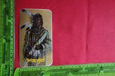 Alter Aufkleber Indianer WRANGLER Jeans