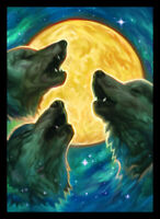 Legion Double Matte 3 Wolf Moon Art Card Sleeves with Matte Finish (50)