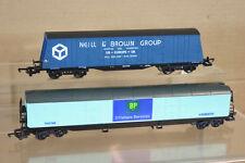Lima RECHEN VON 2 BR Neil & Braun Hull & BP Offshore Aberdeen lang Goods Waggon