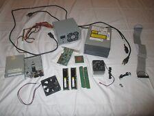 HUGE Computer Parts Lot- Cpu 4x Ram 2x dvd drives Power supply Coolers Fans etc.