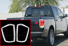 fit: 2004-2014 Nisan Titan Tail Light Chrome Guards Covers Bezel Accent Frame