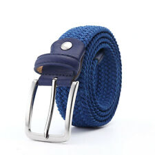 Elastic Stretch Waist Belt Canvas Stretch Braided Woven Leather Belt For Men