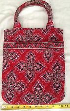 Vera Bradley Red Multi Color Quilted Tote 11x 13x1
