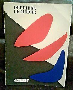 Alexander Calder: 5 Original Lithographs DERRIÈRE LE MIROIR No. 190 FÉVRIER 1971