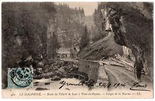 CPA 38 - Gorges de la Bourne (Isère) - 482. Route de Villard de Lans à Pont en..