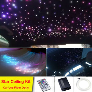 32W Car LED Light Two Heads Fiber Optic Star Ceiling Kit RGB Remote 700 Strands