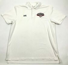 Under Armour Polo Dry Fit Shirt Men's Size Med BIG 12 Track & Field Championship
