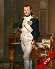FRENCH EMPEROR NAPOLEON BONAPART TUILERIES PAINTING ART REAL CANVAS GICLEE PRINT