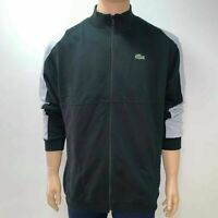 Lacoste Mens Sport Tennis Sweatshirt Full Zip Jacket XL Fr 6 2XL Fr 7 Black Grey