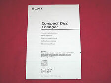 Sony CDX T67 Genuine Operating & Fitting Instructions NEW Same Day Post