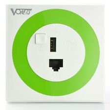 New WiFi Wireless VONETS 300 MBPS In-Wall PoE AP Router USB Charger