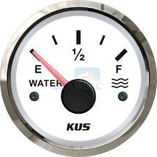 KUS Water Level Gauge Boat RV Truck Water Tank Level Indicator 52mm 0-190 ohms