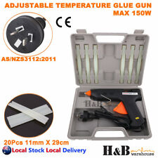 Hot Glue Gun Max 150w Adjustable Temperature 6 Glue Adhesive Sticks T0272