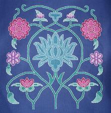 KL20 Persan fleur 2 Counted Cross Stitch Kit Par goldleaf Needlework