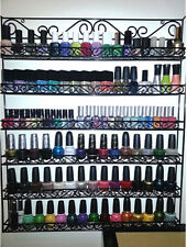 Black Wire Metal Nail Polish Display Organizer Wall Rack (Fit up To 126 Bottles)