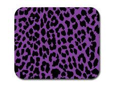 Leopard Print - Purple and Black Mousepad Mouse Pad