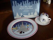 'Twas the night before Christmass 3 piece place setting  in orignal box Noritake