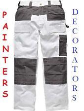 Mens Dickies Trouser KneePad Pockets Combat Painters Decorators WD4930 White