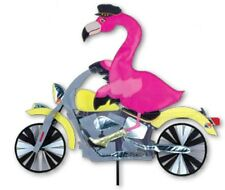 Pink Flamingo on a Motorcycle Wind Staked Spinner with Pole ..27.... PR 25972