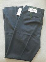 NEW Lauren Ralph Lauren Dress Pants Suit Separate Flat Front NAVY 36x32 $95 NWT
