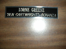 LORNE GREENE (BONANZA) NAMEPLATE FOR SIGNED PHOTO/MEMORABILIA DISPLAY