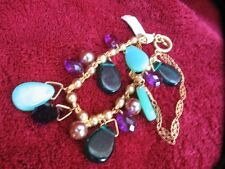 BNWT - Accessorize - little gilt charm style bracelet lots of stones and detail
