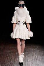 Alexander McQueen Runaway Amazing Wool Short Sleeve Coat Size I 40 UK 8 US 4 S