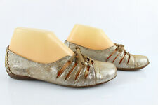 Dkode Leather Ballet Flat Shoes Golden T 37 Good Condition