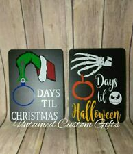 Countdown for Halloween Jack Skellington & Grinch who stole christmas Chalkboard