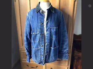 Troy Vintage Blanket Lined Men's Jean Jacket Size S