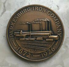 1972 Parkersburg Pennsylvania PA Centennial Medal