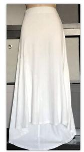 Peruvian Connection pima cotton long skirt M Pull On white Beach Summer