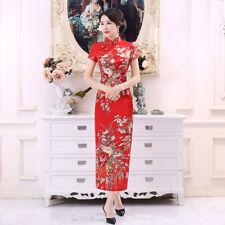 Vintage Style Womens Traditional Qipao Cheongsam Evening Long Xmas Chinese Dress